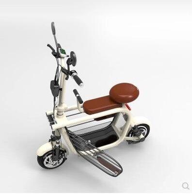 電動車 48V親子電動車迷妳折疊電動自行車遛狗電瓶車寵物小型電動代步車 DF女孩