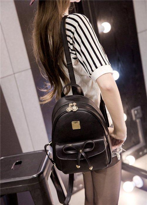 2018新款後背包 蝴蝶結造型 韓國連線 皮革後背包 後背包 背包 小後背包 mini 可愛後背包 可愛款