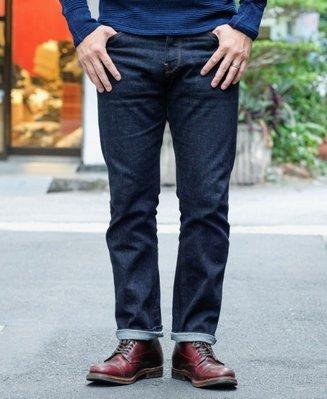 COF Studio M1 高科技彈力中腰極窄修身微錐形小腳原色牛仔褲/丹寧褲