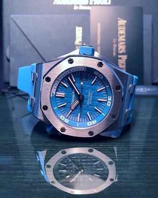 Audemars Piguet 15710ST 藍色 Diver  100% New