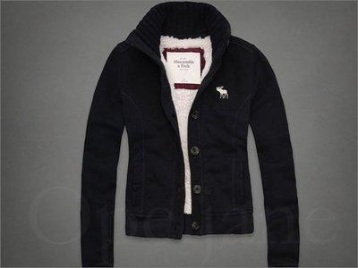 真品 AF Abercrombie & Fitch A&F 麋鹿灰色帽T連身外套+藍色毛衣XS號 +小禮物 免運費