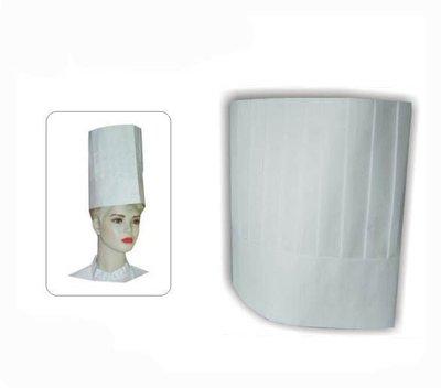 ☆°萊亞生活館 °帽子-廚師帽(高)材質:紙【10吋=約25公分】(另售工作帽。網帽。食品帽)