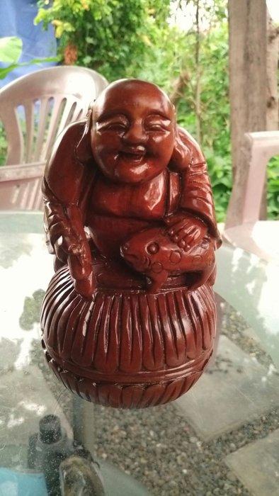 拼人氣.早期收藏.清末民初木雕件賠售出清.劉海禪師戲金蟾,牛樟木,高約16公分寬約9公分