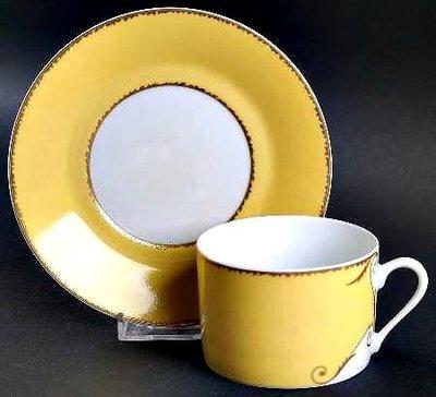 【Christian Lacroix 】國外帶回絕版24K金咖啡杯盤組