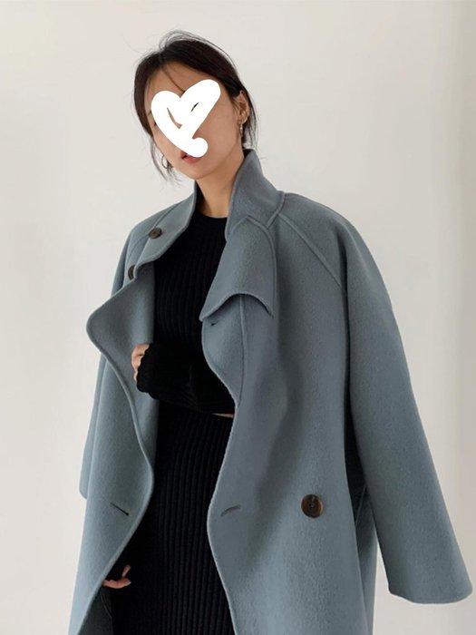 超有設計感手工雙面羊絨大衣女秋冬韓國羊毛外套.NL Select Shop .