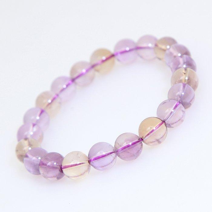 嚴選天然透亮紫黃晶手珠26.5g, 9.8mm
