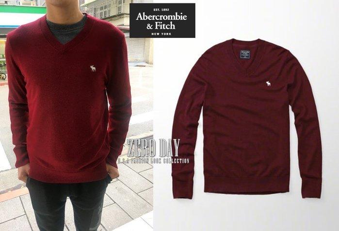 【零時差】A&F Abercrombie&Fitch Icon Wool-Blend V-Neck Sweater羊毛衣