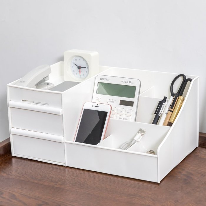 【免運費】化妝品收納盒桌抽屜式塑料梳妝臺首飾盒文具桌面收納口紅收納盒QD3C-Y368