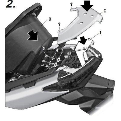 【台中富源】X-MAX400/300/125 專用後行李箱架(須挖孔)