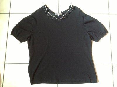 大尺碼專櫃H&L 黑色短袖針織衫 44號