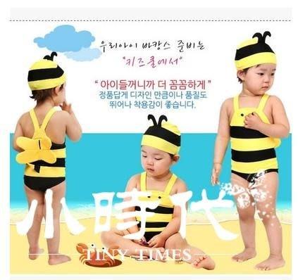兒童泳衣 小蜜蜂泳衣女孩可愛男孩女童男童小童寶寶連體游泳衣溫泉