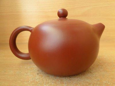 [古藝軒]~大紅袍崁蓋倒把西施壺~程輝制陶~(球孔)~[特價][茶壺]
