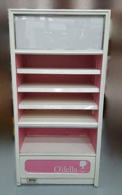 台中宏品二手家具 中古傢俱賣場 D73106*白粉展示櫃 展示架 櫃檯 收銀台*便宜家二手家具拍賣 冷氣空調 冰箱電視 台中市