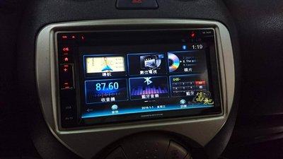 中壢富馳汽車音響 日產MARCH 改裝INN 創新牌 CE-6M01 導航/藍芽/USB多媒體主機