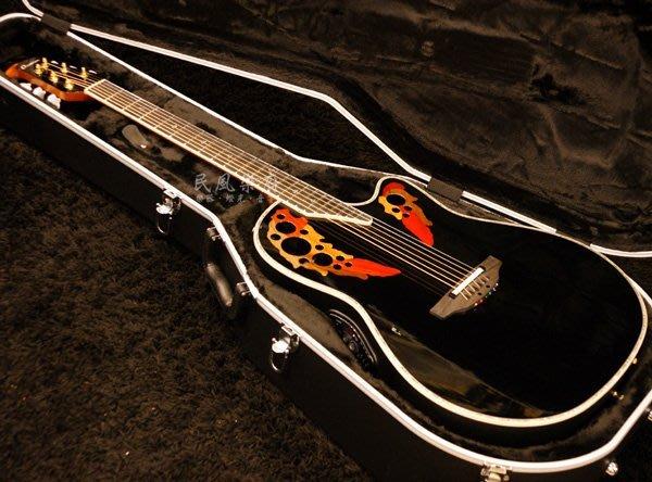 《民風樂府》韓廠 Ovation Custom Elite C2078 AX-5 AAA雲杉單板 經典款 葡萄孔圓背吉他