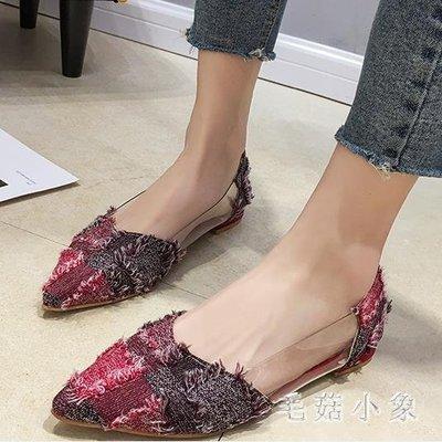 中大尺碼 豆豆鞋單鞋女2018新款百搭...