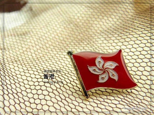國旗徽章。香港X1+K02英文版X2+美國X1=共4枚