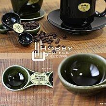 【豐原哈比店面經營】日本 ORNE 陶瓷湯匙 咖啡匙 15g及5g 綠色下標