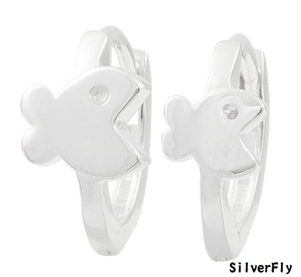 大魚純銀易扣耳環《 SilverFly銀火蟲銀飾 》