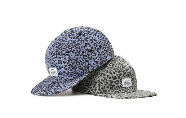 { POISON } LESS SIMPLE LOGO CAMP CAP 獨家豹紋Leopard Pattern 五片帽