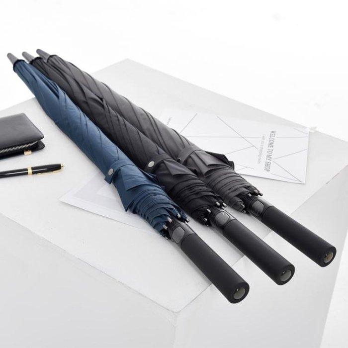 德國自動商務雨傘長柄男 個性創意潮流簡約加固大號雙人傘長柄學生
