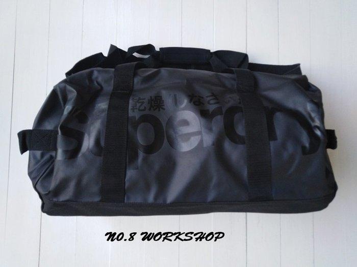 T【Superdry包包館】☆【Superdry極度乾燥圓筒包/旅行包】☆【SDW001A3】☆黑色
