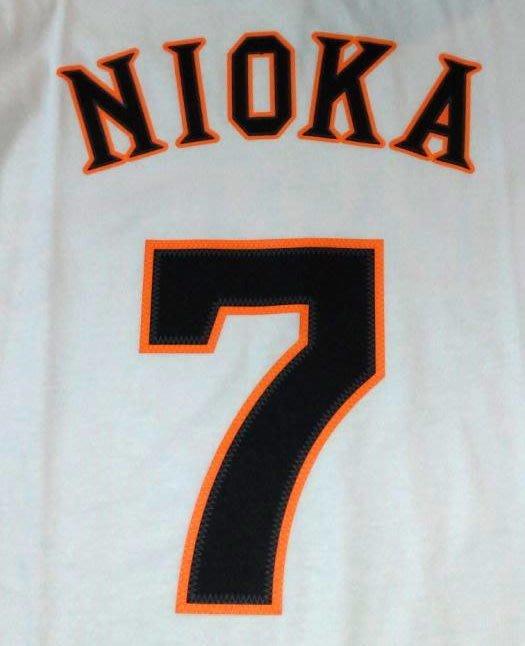 貳拾肆棒球--日本帶回~日職棒巨人二岡智宏比賽球員球衣造型TEE/adidas日製/L