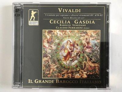 2CD Vivaldi: Salve Regina RV 617、5 Cantate Per S...RV 678-82