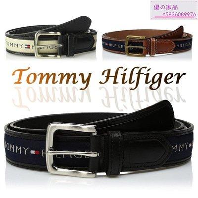 廠家直銷~Tommy Hilfiger en's Ribbon Inlay Belt 男皮帶 保證正品 美國空運來台【】