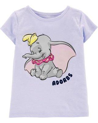 【Alice & Lillian】美國全新正貨女童裝Disney--淺紫藍色Adorbs  短袖上衣