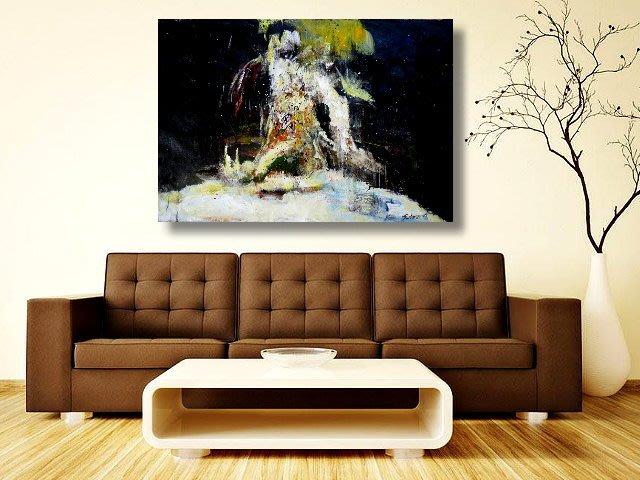 【 金王記拍寶網 】U1303  趙無極 款 抽象 手繪原作 油畫一張 罕見 稀少 藝術無價~
