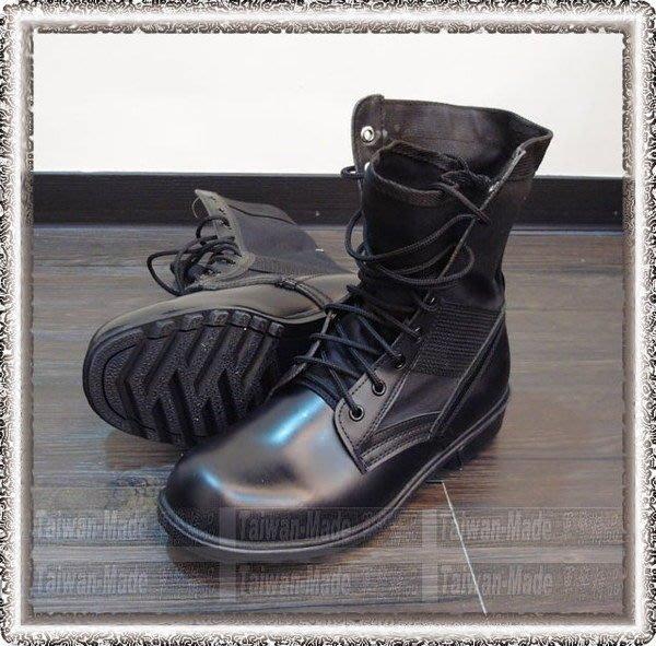 《甲補庫》__臺灣製造~重金屬哈雷風~黑色高筒真皮皮靴___軍靴