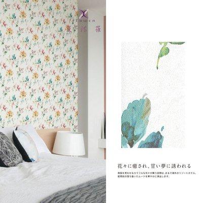 【夏法羅 窗藝】日本進口 溫馨花朵圖案 復古風 鄉村風 壁紙 BB_040039