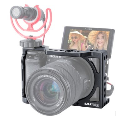 *大元 高雄*【SONY配件】SONY A6400 鋁合金 UURIG 兔籠 Vlog 多1/4 可擴充麥克風 補光燈