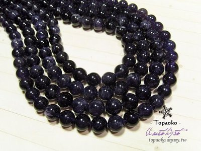 《晶格格的多寶格》串珠材料˙天然石配件 天然巴西紫水晶10mm圓珠一份(35P)【S308-10】條珠/佛珠