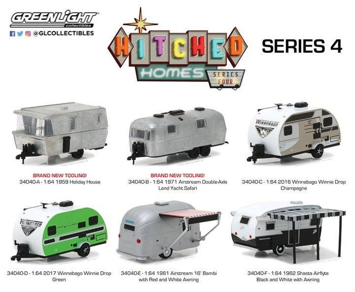 【預購商品】1:64 Hitched Homes Series 4 一套6台【免訂金】旅行車 拖車 露營車
