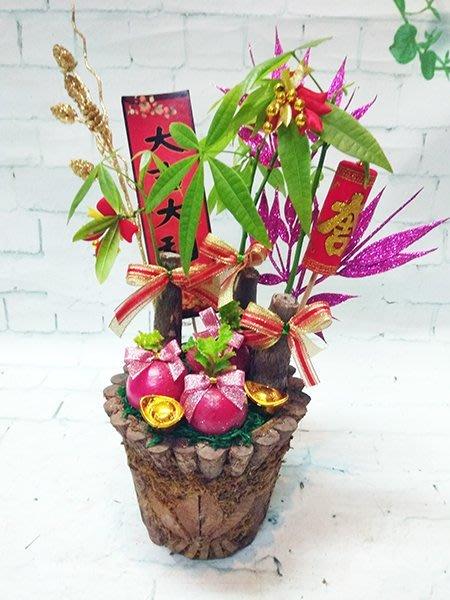 過年必備 擺設 送禮  年節3福好彩頭賀禮盆栽