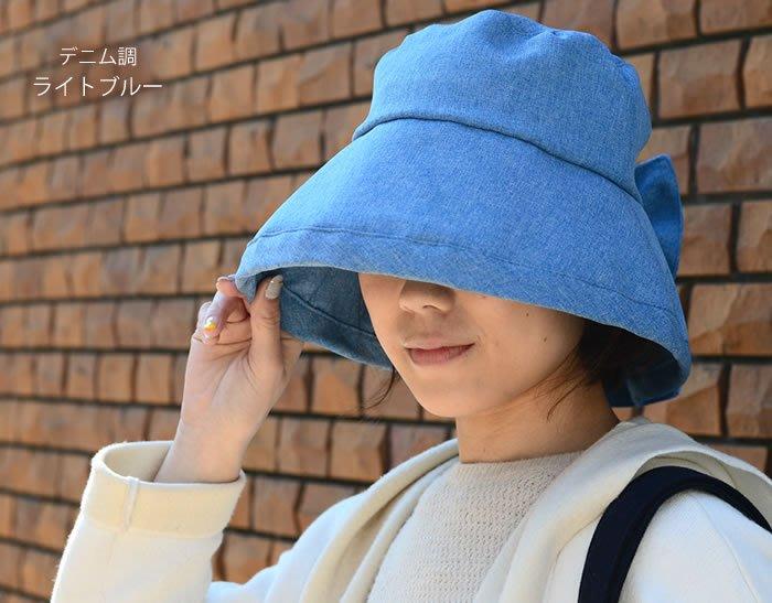 遮陽帽--日本進口GOODAY夏日抗UV吸濕速乾遮陽蝴蝶結女優帽/淑女帽/遮陽帽/出國旅遊可折疊--秘密花園