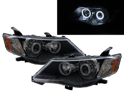 426卡嗶車燈 Mitsubishi 三菱 Outlander 07-09 光導LED天使眼光圈魚眼 大燈 黑