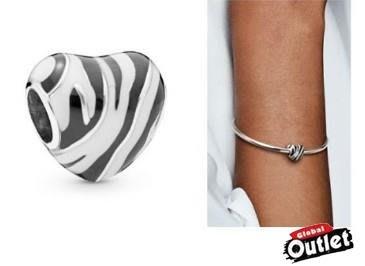 【全球購.COM】PANDORA 潘朵拉 琺瑯新款斑馬紋愛心串珠 925純銀 美國正品代購