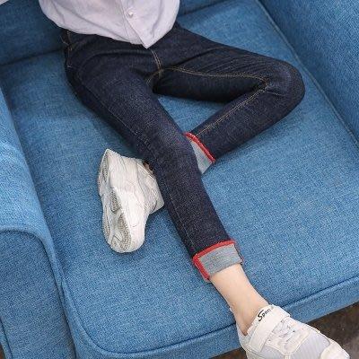 女童褲子兒童正韓彈力修身小腳褲中大童鉛筆褲女童單寧牛仔