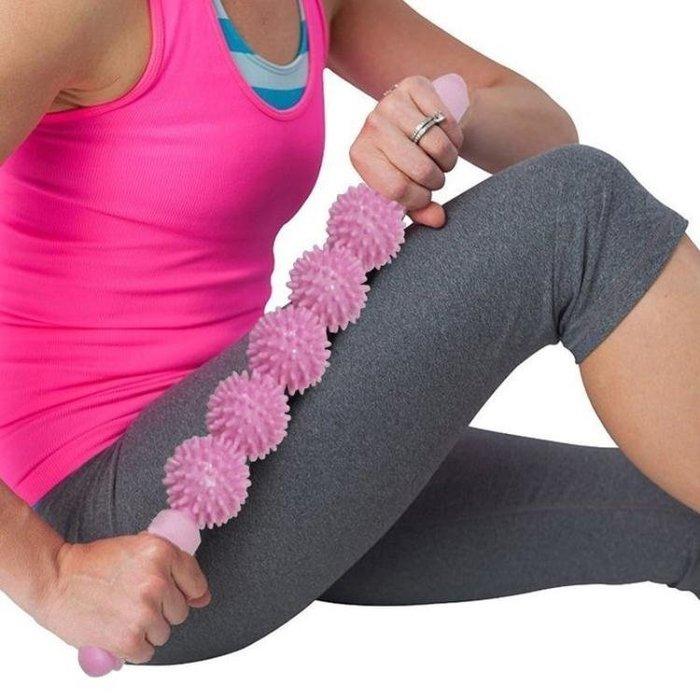 滾輪瑜伽按摩棒瑜伽棒腰部腿部背部頸椎按摩器按摩軸運動放鬆