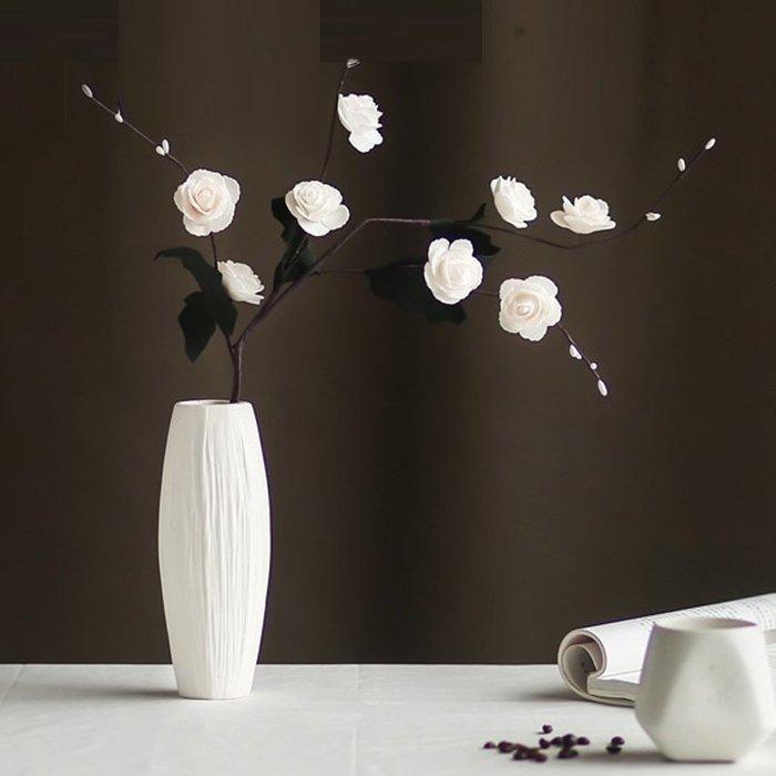 熱賣北歐現代簡約白色陶瓷花瓶干花水培富貴竹創意擺件客廳小清新裝飾#擺件#陶瓷#北歐