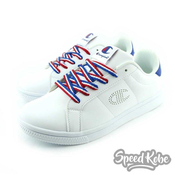 Champion 白 藍紅 皮革 休閒鞋 慢跑 男 841210103 -SPEEDKOBE-