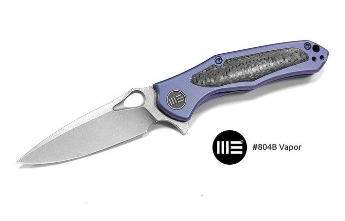 【angel 精品館 】WeKnife 804B Vapor 藍鈦嵌碳纖柄 Flipper 折刀CPM-S35VN鋼