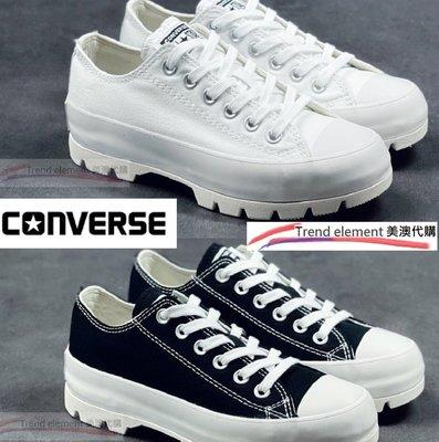 Converse Chunk All Star Lugged move 厚底 增高  黑 白 低筒  ~T/E代購~
