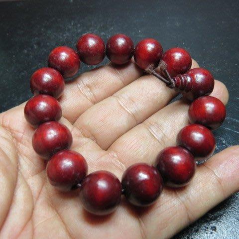 【競標網】天然漂亮紅紫檀15mm手珠(超低價起標、價高得標、限量一件、標到賺到)
