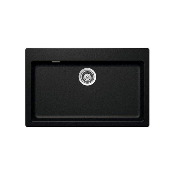 【路德廚衛】德國原裝進口SCHOCK花崗岩水槽R79-97 黑色