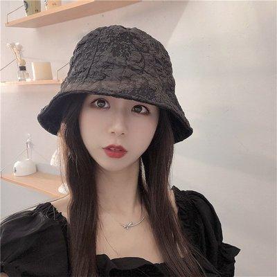 漁夫帽 盆帽-蕾絲皺褶純色防曬女帽子3色73xu11[獨家進口][米蘭精品]