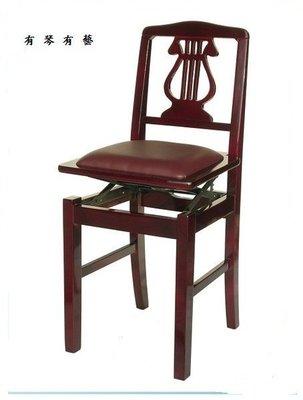 B66b∮有琴有藝@全新靠背式鋼琴升降椅升降鋼琴椅電子琴椅豎琴椅咖啡色台灣製造精品